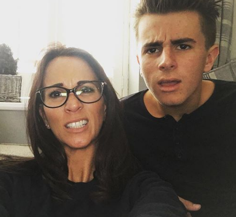 Andrea McLean and son Finaly (Credit: Instagram)