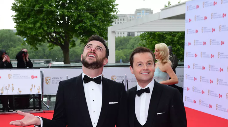 Ant and Dec escape near-disaster at the National Television Awards