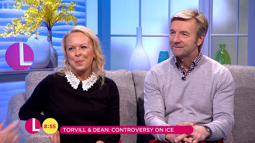 Torvill and Dean hit back at Stephanie and Lemar skate-off criticism in interview with Lorraine