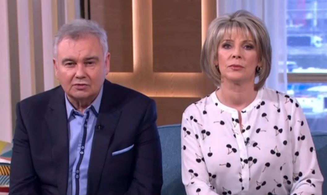 Eamonn Holmes gets no sympathy from Ruth Langsford as he returns to work after illness