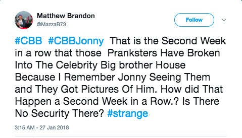 Celebrity Big Brother break-in leaves housemates terrified