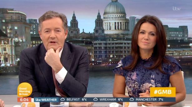 "Piers Morgan threatens to track down troll who's been sending ""vicious and vile"" tweets to Susanna Reid"