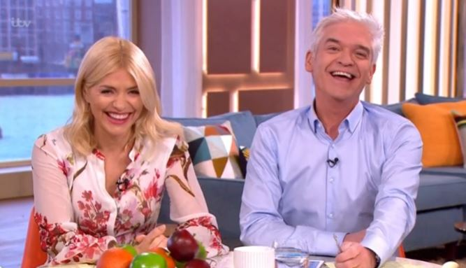 Holly Willoughby and Phillip Schofield giggle about having RUM tasting just before This Morning's royal visit