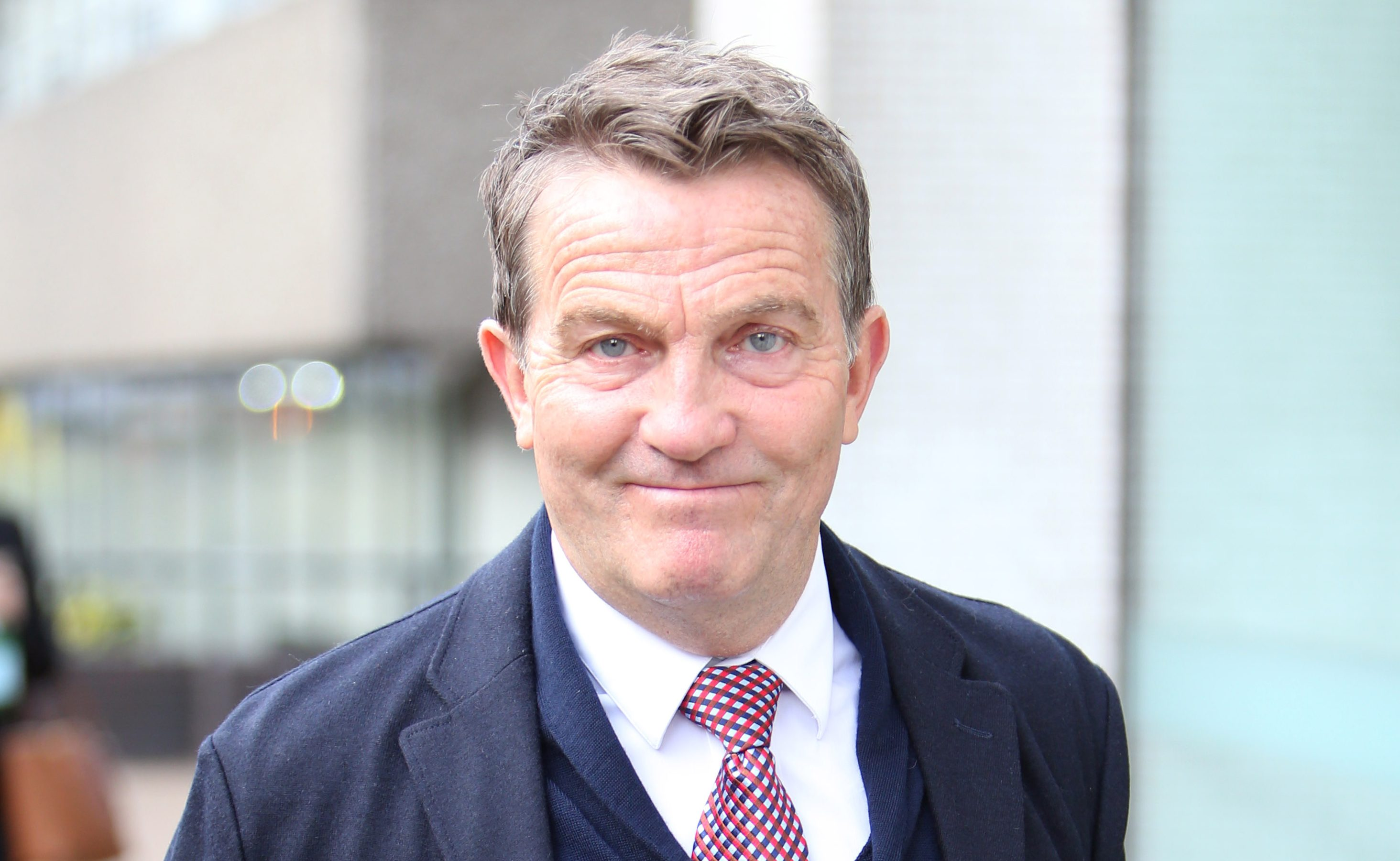 Bradley Walsh gives himself a headache with VERY energetic headbanging on way to work