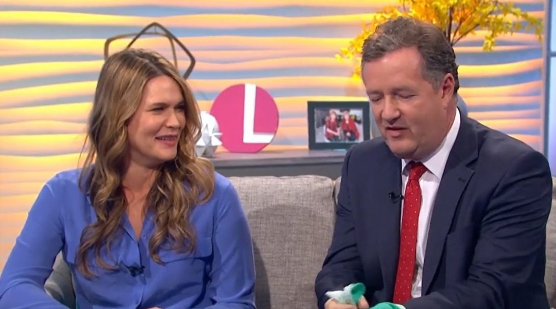 Piers Morgan crashes Lorraine interview with his wife to reveal what home life is really like