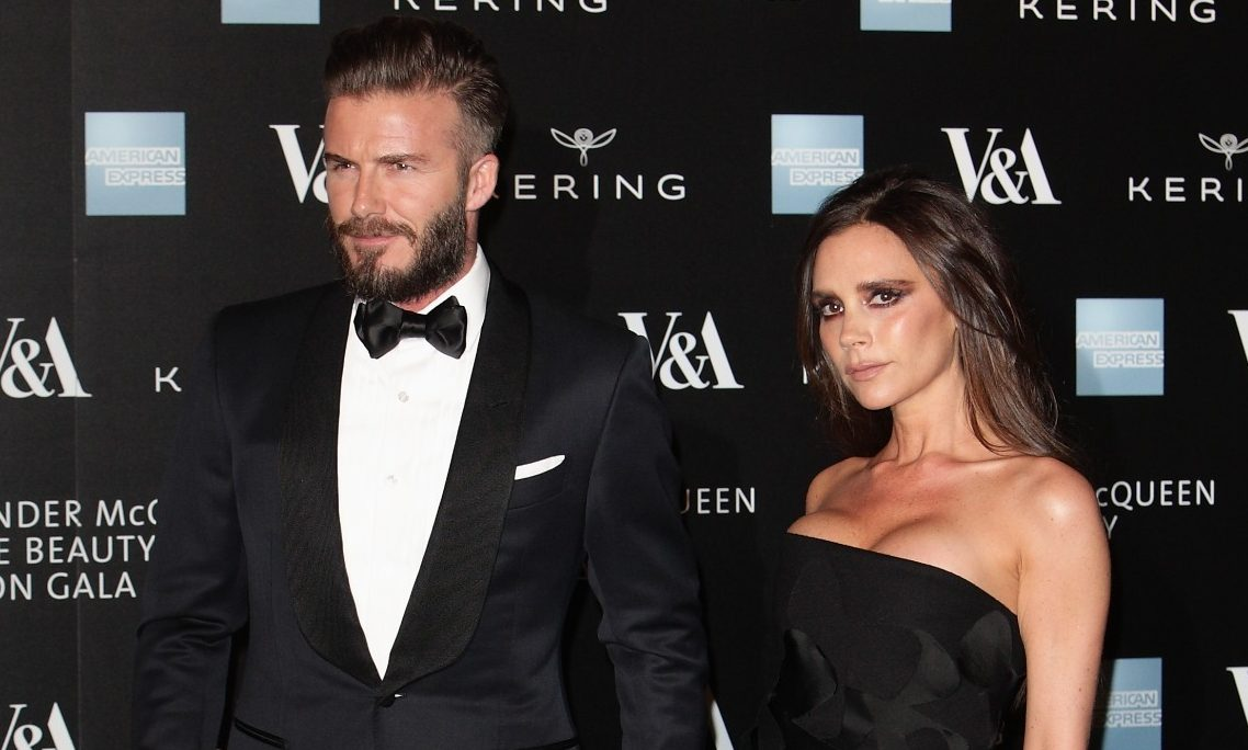 Victoria Beckham snuggles into husband David in intimate romantic pic