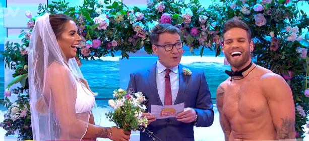 Good Morning Britain viewers cringe as Love Island's Jess Shears and Dominic Lever MARRY live on TV