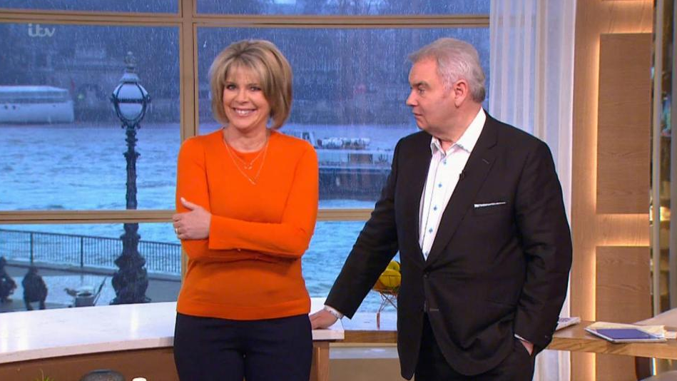 Ruth Langsford accuses Eamonn Holmes of cheekily patting her bottom live on air
