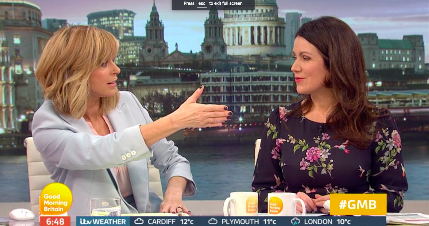 Kate Garraway snubbed by Good Morning Britain guest in awkward moment