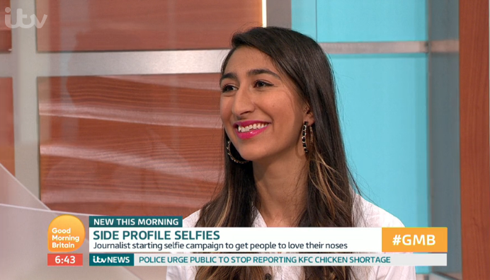 Woman launches campaign to break down taboo of big noses and everyone is sharing selfies