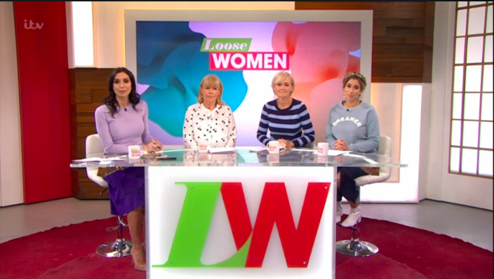 The Loose Women stars get the giggles live on air as innocent chat with Alan Titchmarsh turns rude