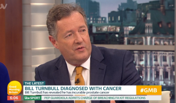 Piers Morgan reveals his own prostate cancer scare following Bill Turnbull's diagnosis
