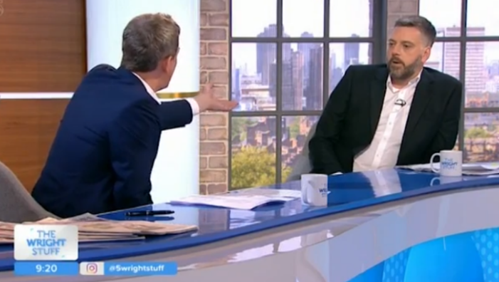 Iain Lee walks off The Wright Stuff after row with Matthew Wright