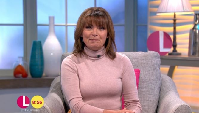 "Lorraine says she was ""dying"" with illness as Piers Morgan gushes over her husky voice"