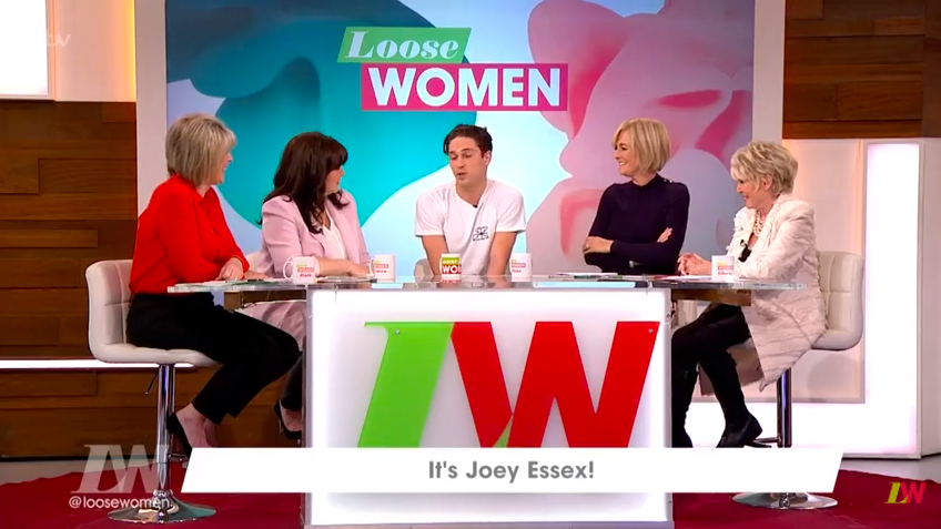 """Joey Essex gets told off for naughty hand gesture on Loose Women: """"Don't do THAT!"""""""