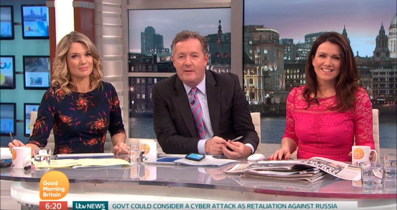"""Piers Morgan tells son to """"man up"""" after major surgery on shoulder"""