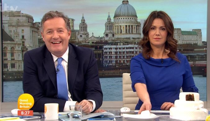 Piers Morgan disagrees with Prince Harry and Meghan Markle breaking tradition with wedding cake