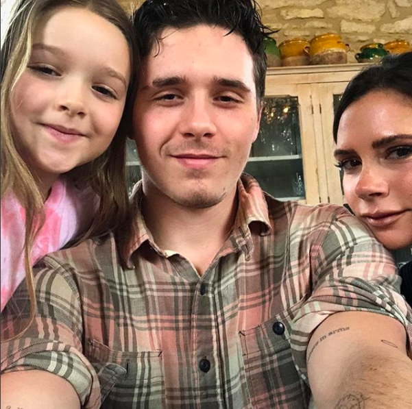 Brooklyn Beckham shows off huge tattoo tribute to little sister Harper