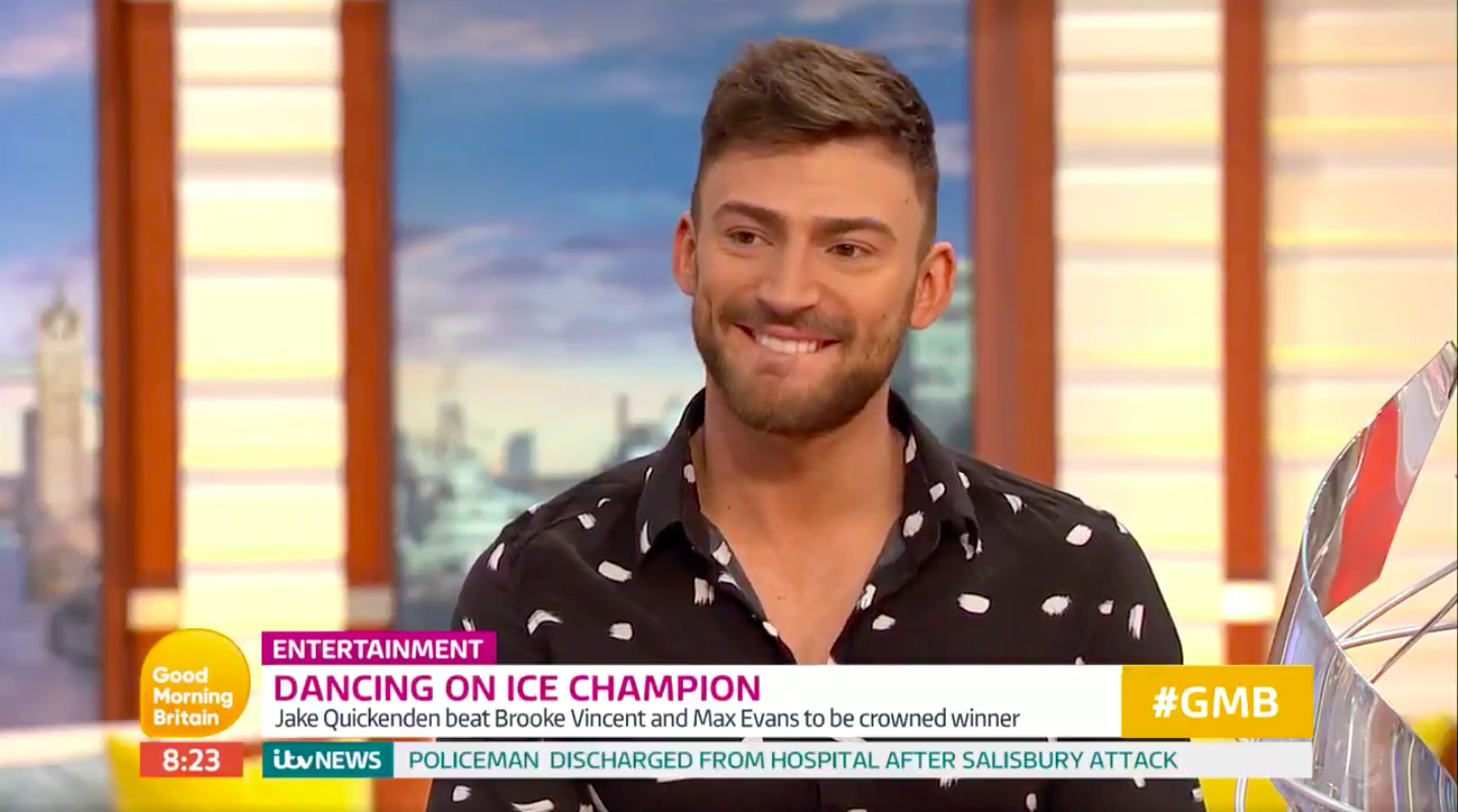 Jake Quickenden accidentally reveals Dancing On Ice secret on live TV