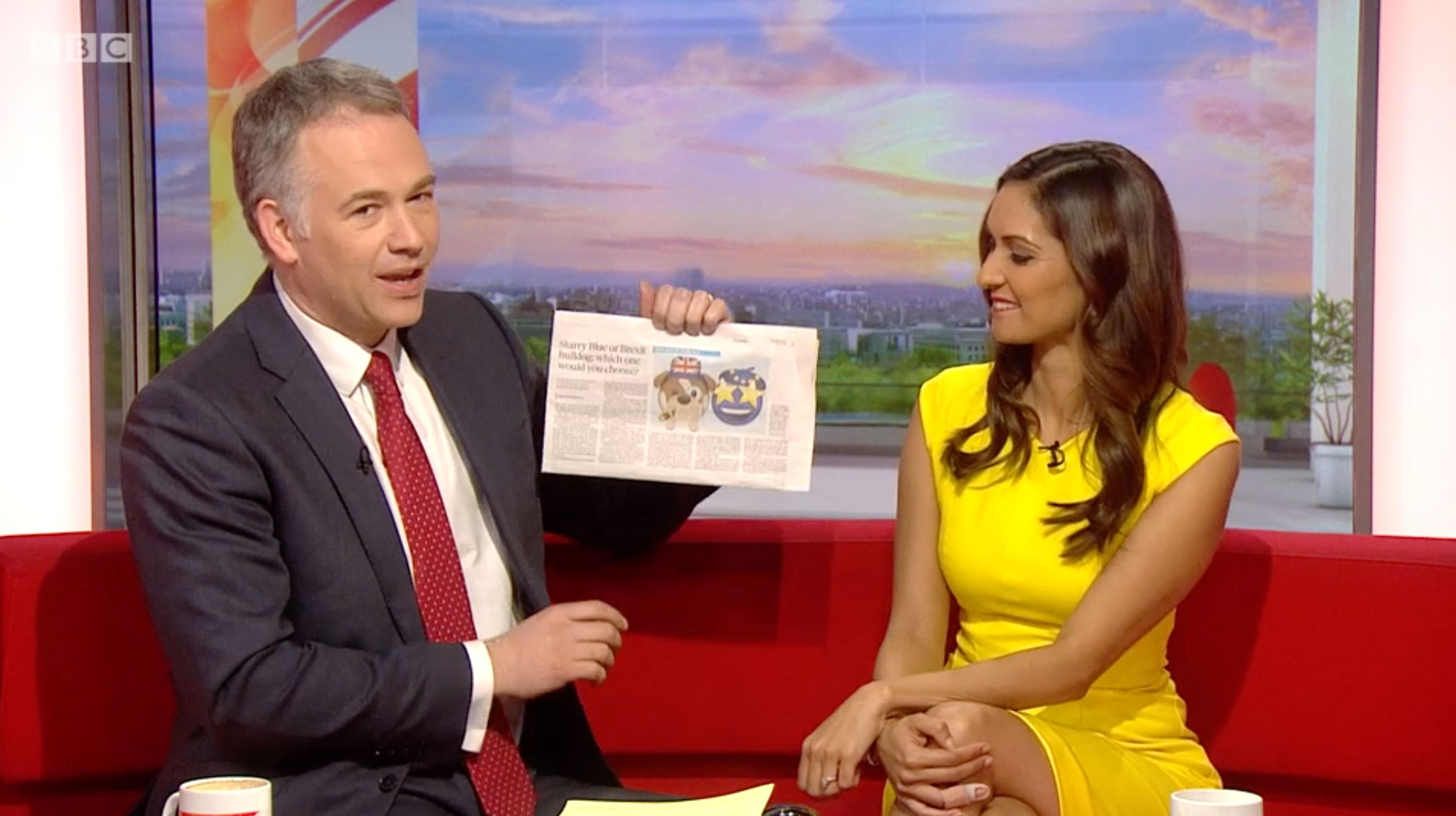 BBC Breakfast falls for newspaper April Fool's Day prank