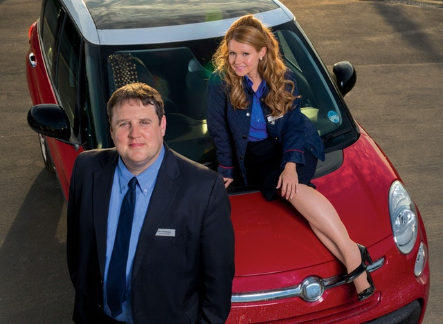 Peter Kay as John and Sian Gibson as Kayleigh in the BBC comedy Peter Kay's Car Share (BBC/PA)