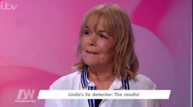 Linda Robson takes a lie detector test on Loose Women to prove she's not had a gastric band