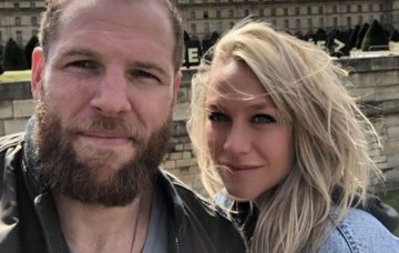Chloe Madeley and James Haskell engaged in Paris