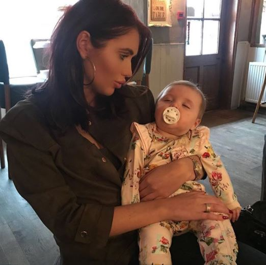 Amy Childs and daughter Polly