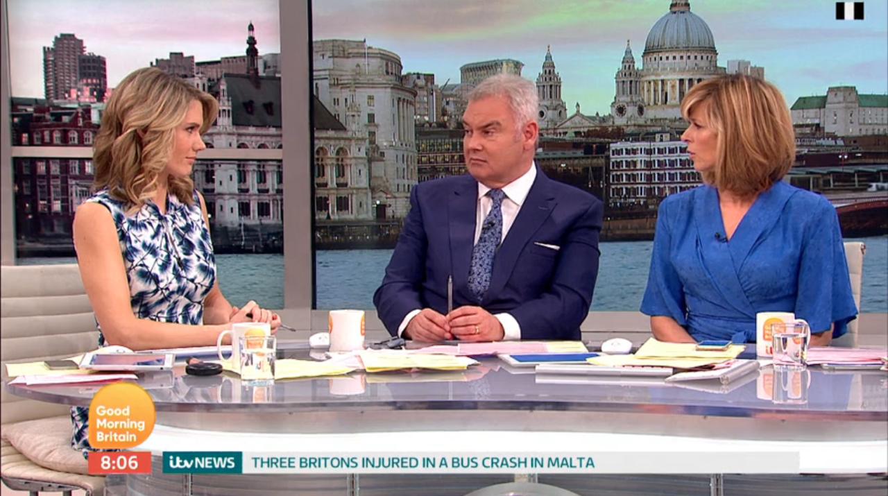 Eamonn Holmes under fire for 'bad taste Rolf Harris banter' on Good Morning Britain
