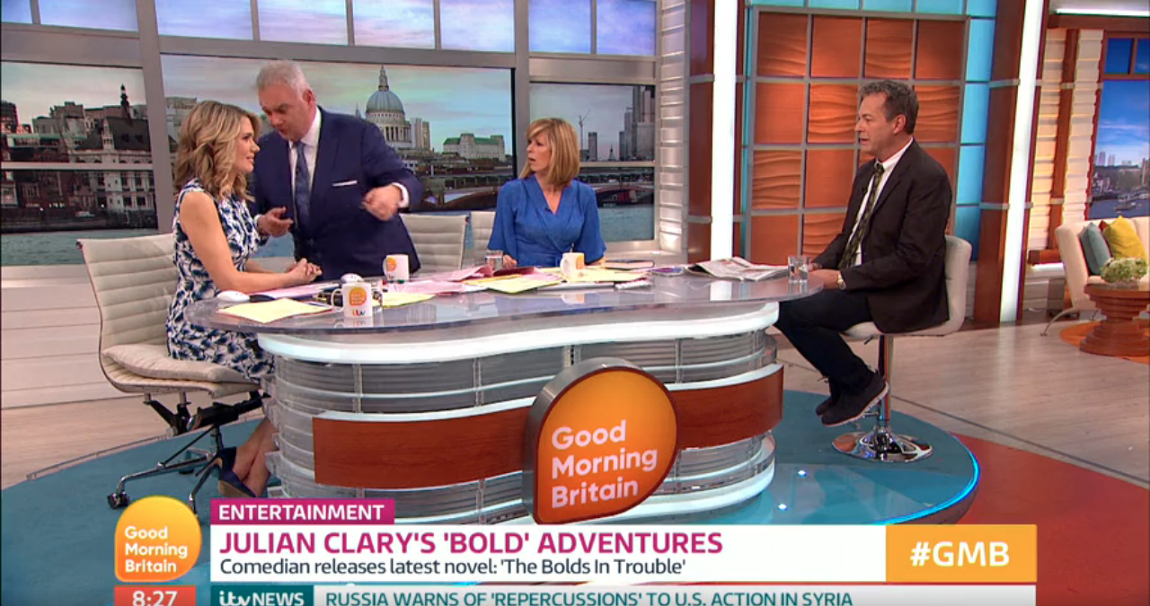 Irritated Eamonn Holmes walks out of Good Morning Britain interview live on air