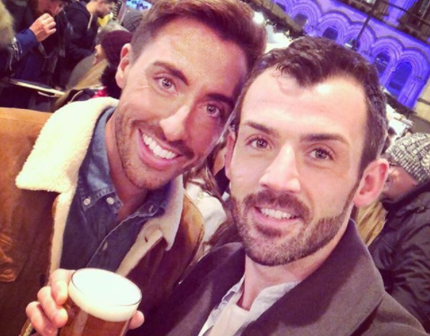 Hollyoaks actor Ross Adams marries Phil Crusham surrounded by co-stars