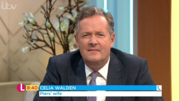 Piers Morgan's wife embarrasses him by phoning in to Lorraine!