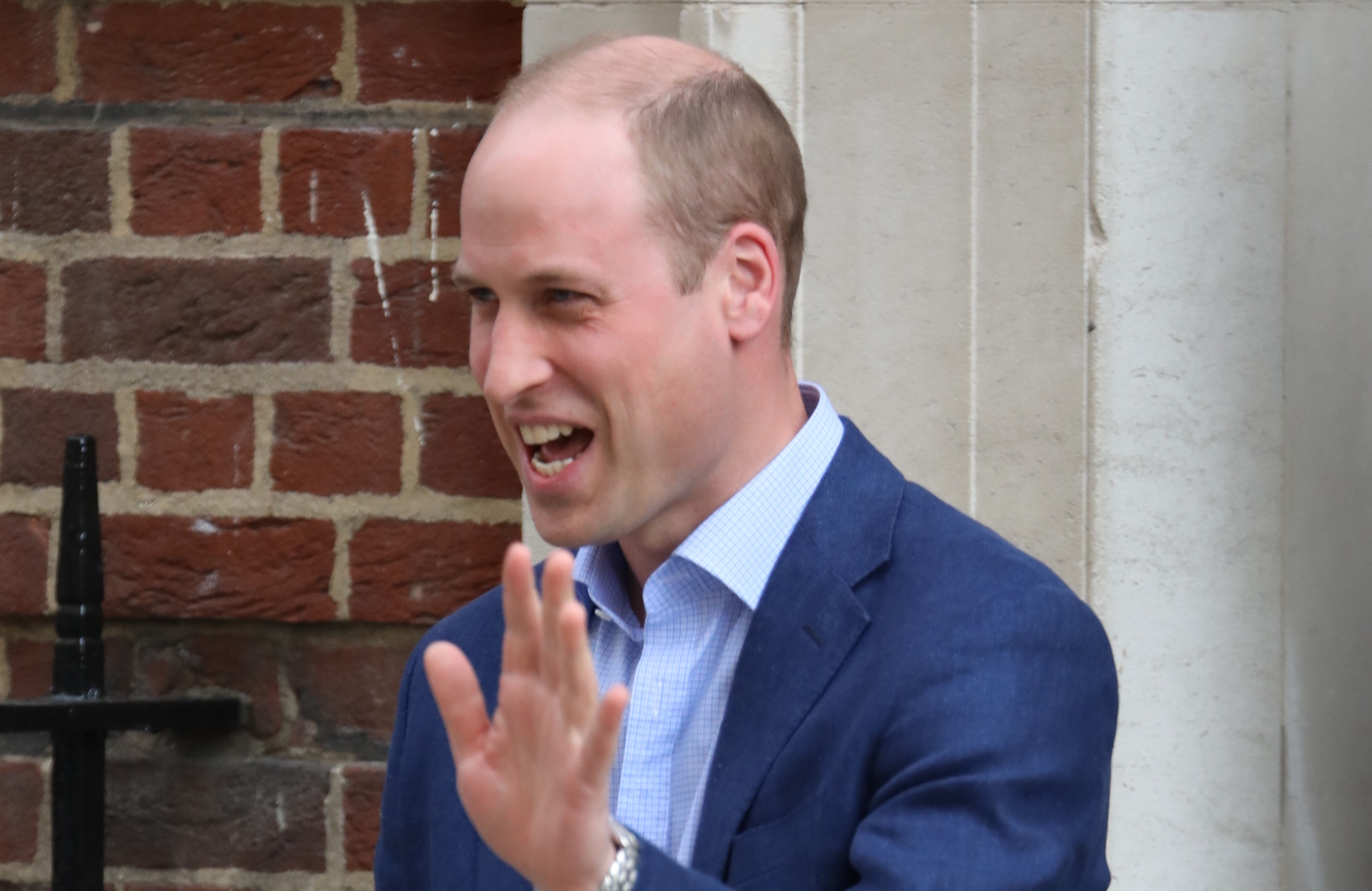 Prince William brings George and Charlotte to meet new royal baby