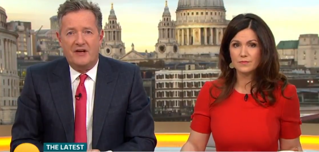 Piers Morgan claims he was denied entry to GMB studios