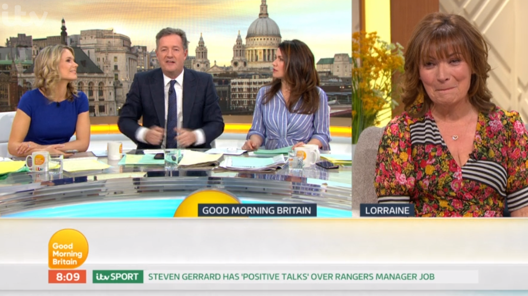 Piers Morgan calls out Lorraine for off-camera remarks