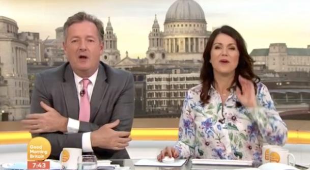 Piers Morgan mocks Charlotte Hawkins' outfit