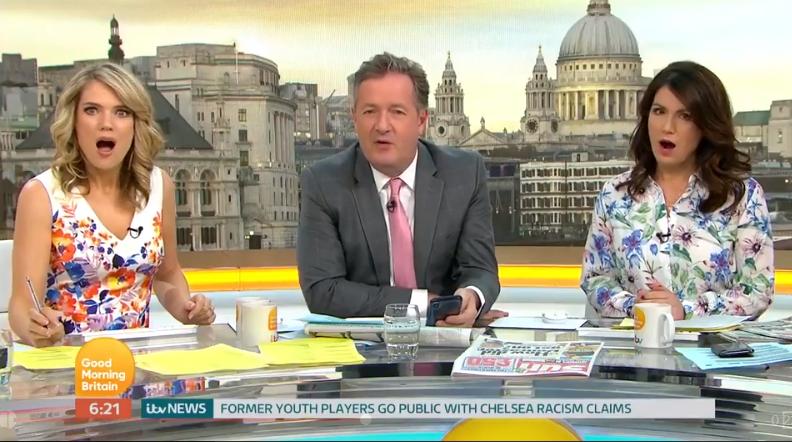Piers Morgan accuses Lorraine Kelly of 'sabotage'