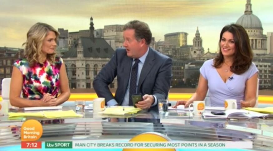 Piers Morgan apologises to Charlotte Hawkins