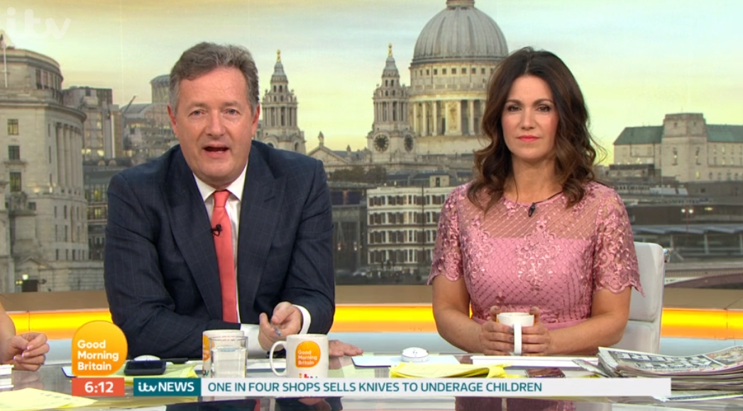Piers Morgan winds up both Susanna Reid and Charlotte Hawkins