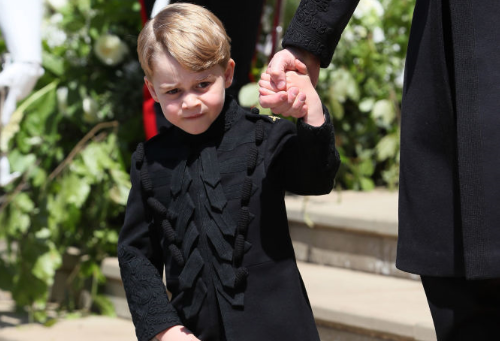 Spectators clock Prince George in long trousers at royal wedding