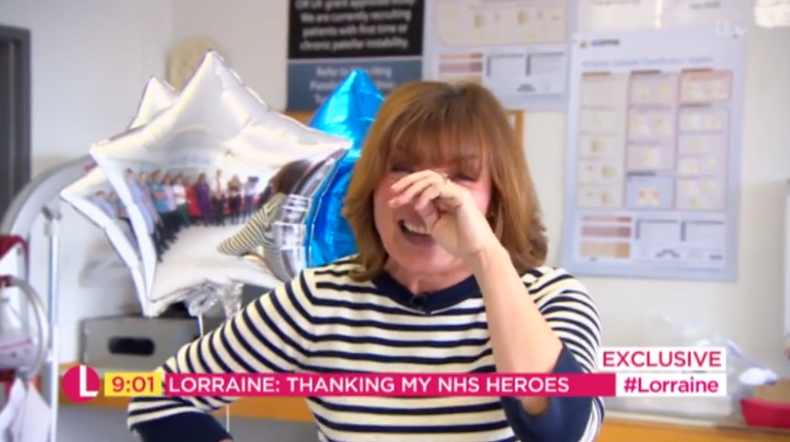 Lorraine Kelly thanks NHS staff who saved her life