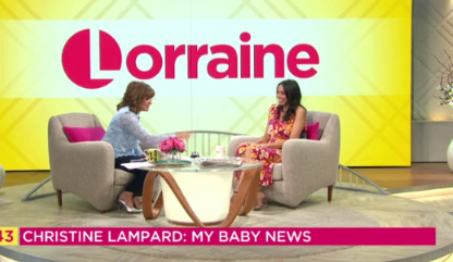 Lorraine Kelly's useful gift for pregnant Christine Lampard
