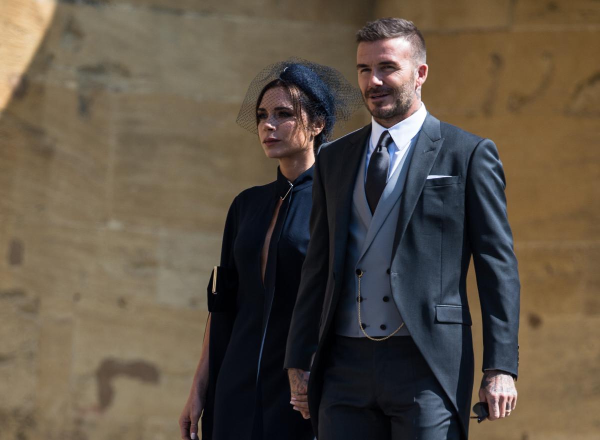 Victoria Beckham pokes fun at her lack of royal wedding smiles