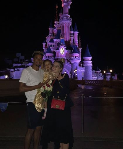 Helen Flanagan and Scott Sinclair with daughter Matilda after getting engaged