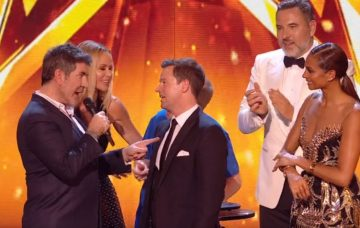 Simon Cowell talks to Dec Donnelly on Britain's Got Talent