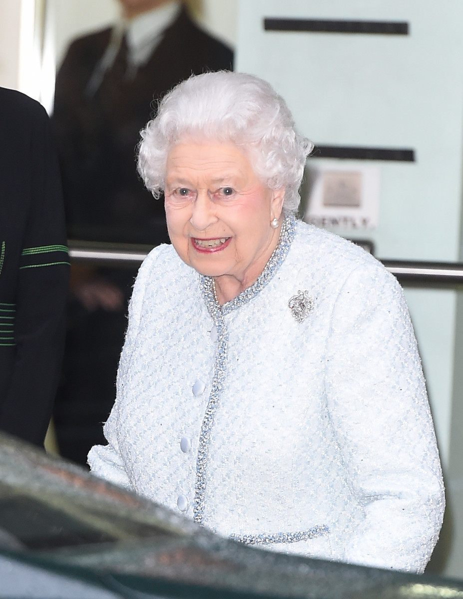 Queen Elizabeth seen leaving the British Fashion Council for the first time to watch a London Fashion Week show