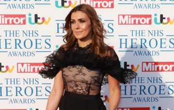 Kym Marsh May 14, 2018 Celebrities arrive on the red carpet at the NHS Heroes Awards at London Hilton on Park Lane in London, England, UK