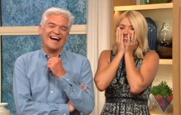 Phillip Schofield and Holly Willoughby on Love Island