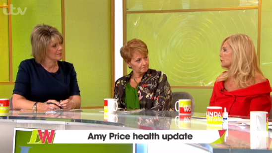 Amy Price on Loose Women (Credit: ITV)