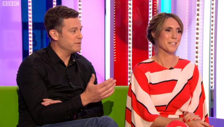 Matt Baker and Alex Jones on The One Show (Credit: BBC)